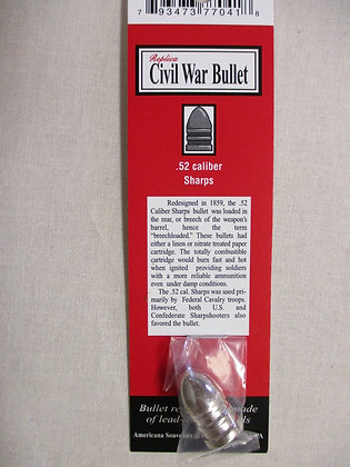 .52 Caliber Civil War Bullet