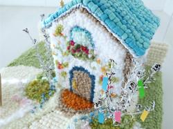家と庭のジオラマ