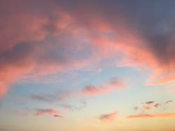ピンクの夕日