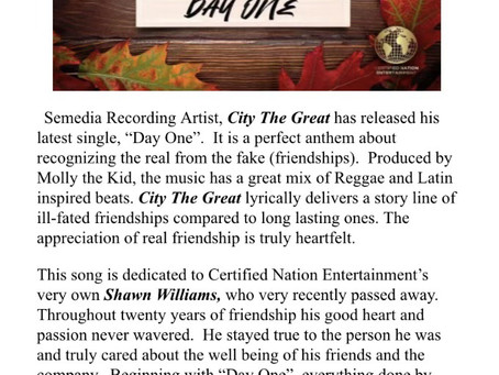 """""""Day One""""- City The Great...Single Review"""