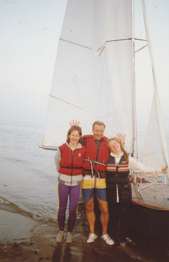 Sailing Osprey from NYC to Annalong Straight Beach September 1991