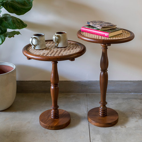 The Rattan Side Table