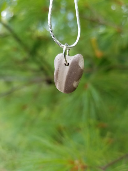 Lake Michigan Stone Pendant