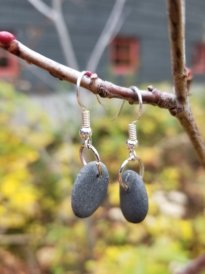 Lake Michigan Stone Earrings