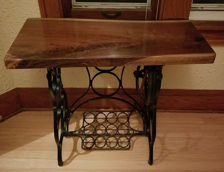 Black Walnut on Antique Sewing Machine Treaddle