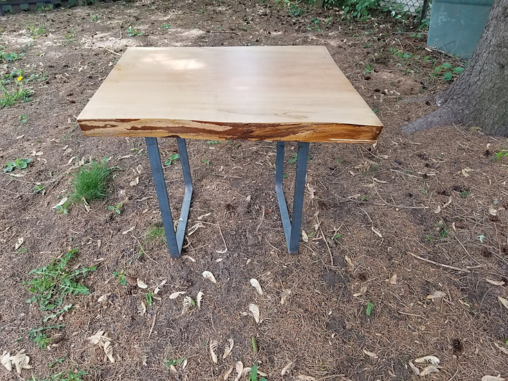 Live edge Maple end table