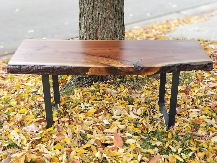 "2"" Black Walnut Coffee Table"