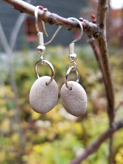 Lake Michigan Stone Earrings