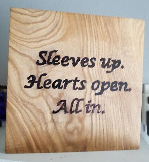 Ash board sign
