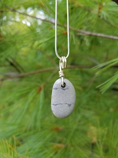 Lake Michigan Stone Pendant