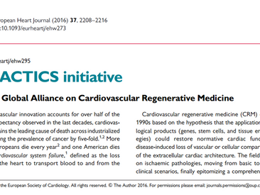 The TACTICS initiative in the European Heart Journal