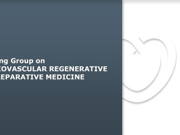 Become a member of ESC Working Group on Cardiovascular Regenerative and Reparative Medicine