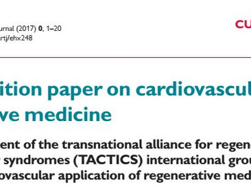 'Global position paper on cardiovascular regenerative medicine' available on-line
