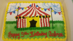Carnival tent cake