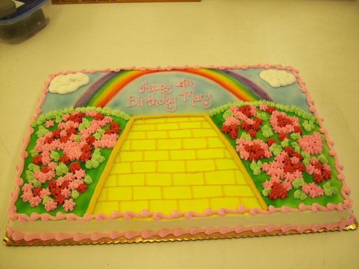 yellow brick road cake