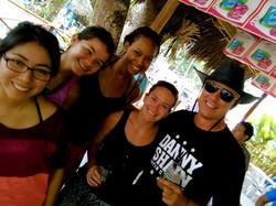 New Friends in Balsa Beach Perú.