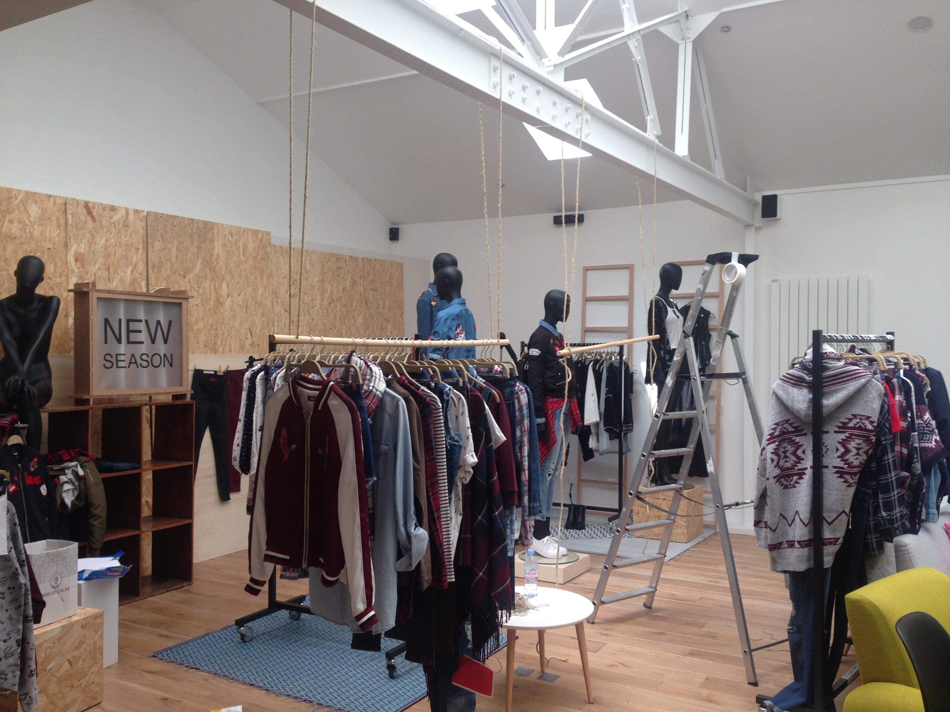 Showroom vêtements au TREIZE EPHEMERE