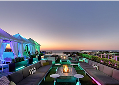 Lovely rooftop lounge.