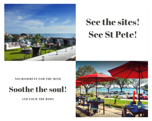 From downtown St Pete to St Pete Beach sites to soothe your soul.