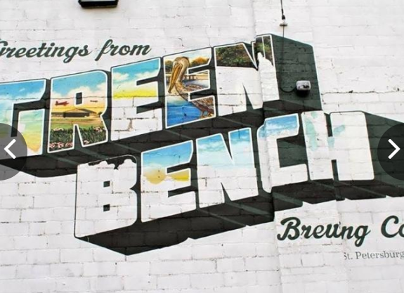 Nothing says St Pete like a Green Bench - Green Bench Brewing does it well!