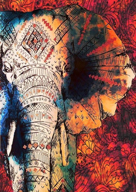 Elephant in Acrylic