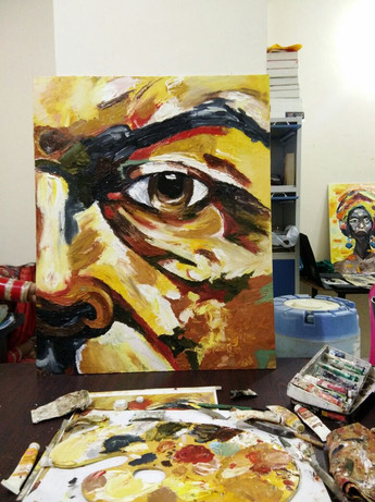 Spatula Oil Painting