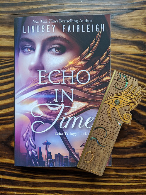 ECHO IN TIME Signed Paperback & Woodmark
