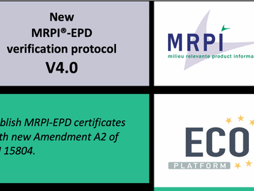 New MRPI-EPD verification protocol V4.0 with EN15804+Amendment A2
