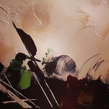 Détail de l'oeuvre Arôme, acrylique sur