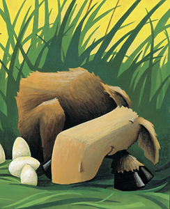 Baby Moose from The Uglified Duckling Illustrated by James Stimson