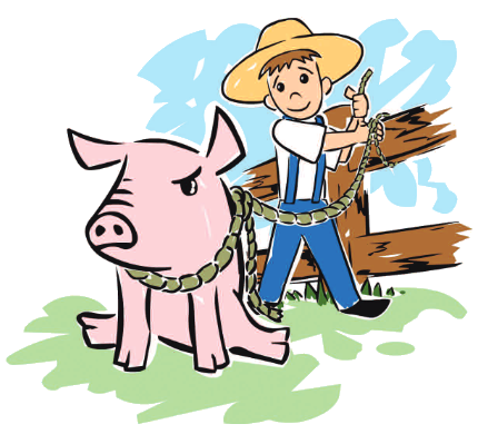 Juan Bobo Sends the Pig to Mass