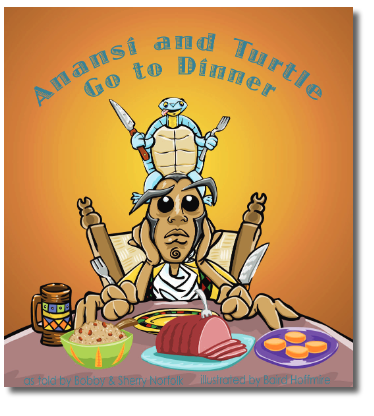 Anansi and Turtle Go to Dinner Cover