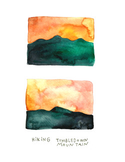 hiking tumbledown sketch diary