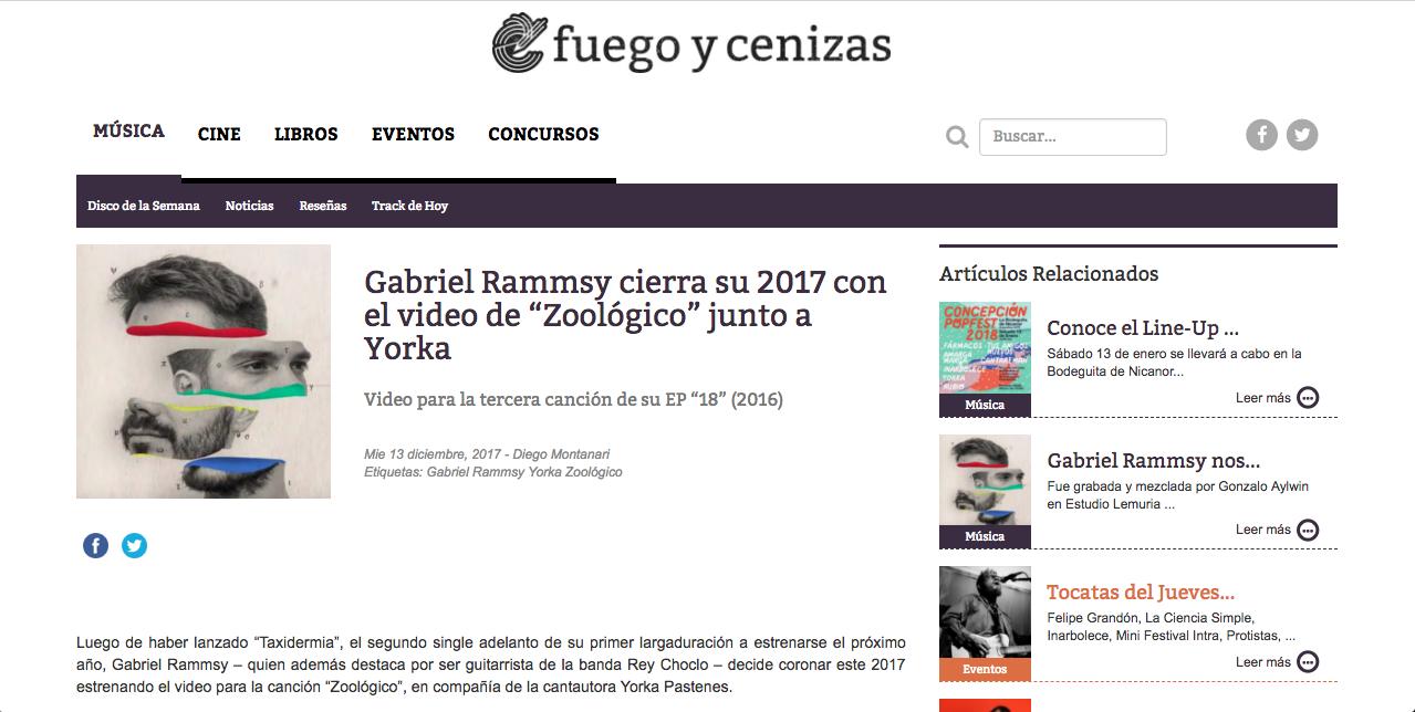 FUEGO Y CENIZAS 13/12/2017