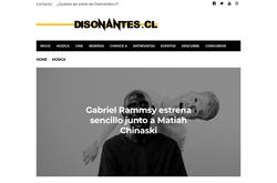 DISONANTES 05/2018