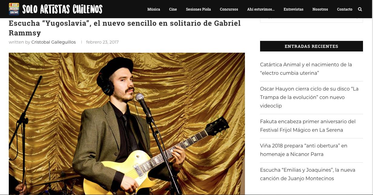 SOLO ARTISTAS CHILENOS 23/02/2017
