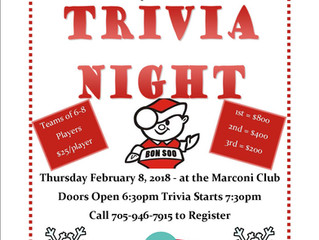 Kiwanis Trivia Night 2018