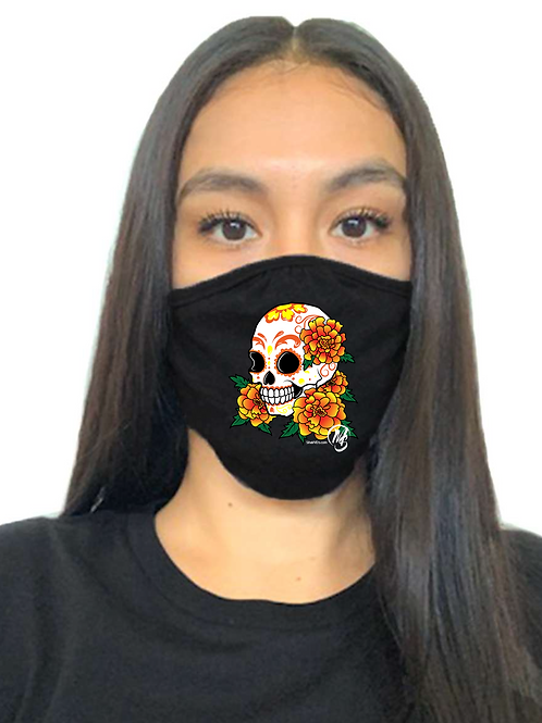 Calavera Mask Black - Adult