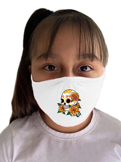 Calavera Mask White - Child