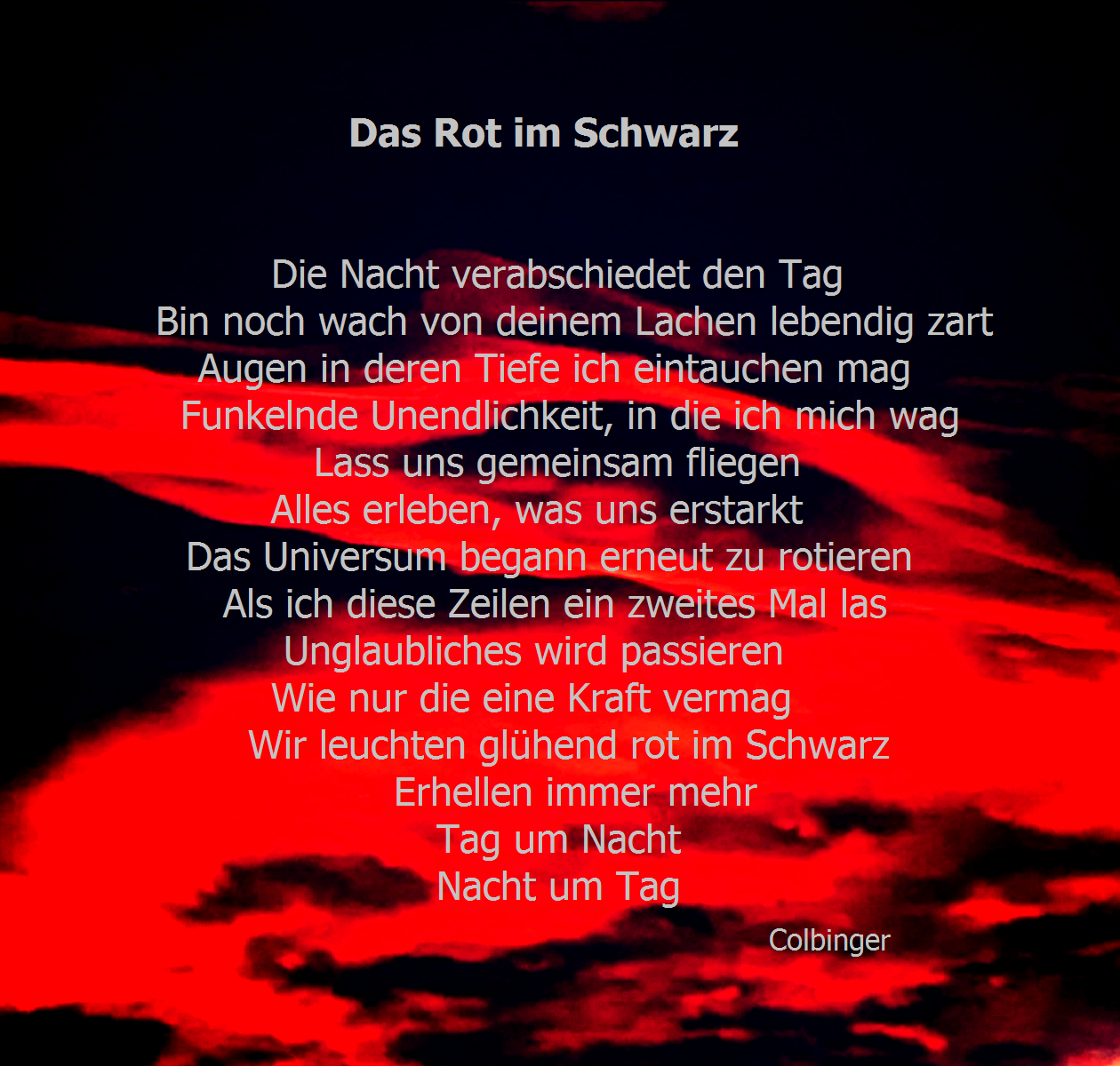 Rot im Schwarz