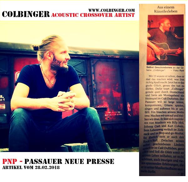 Colbinger PNP Passauer Neue Presse Zeitung Medien Artikel Konzert