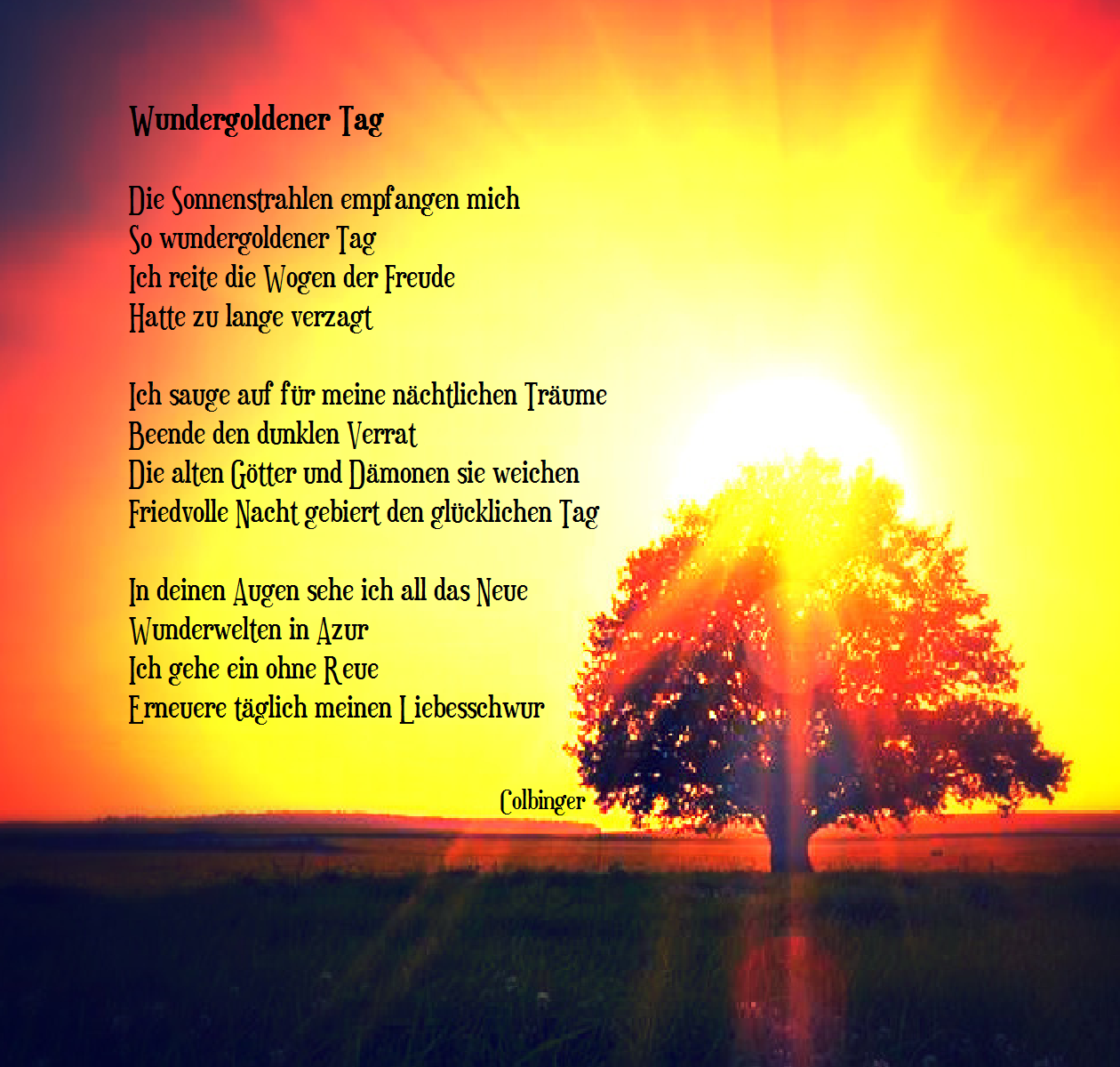 Wundergoldener Tag