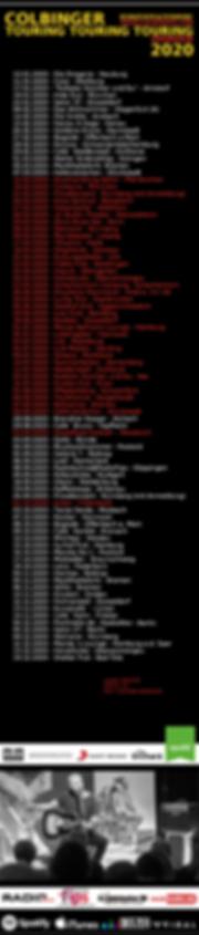 Colbinger Tour & Dates 2020 Overview