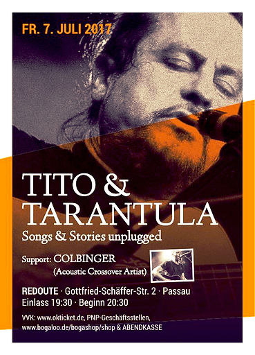 Tito & Tarantula  Colbinger 07.07.2017 Passau Redoute