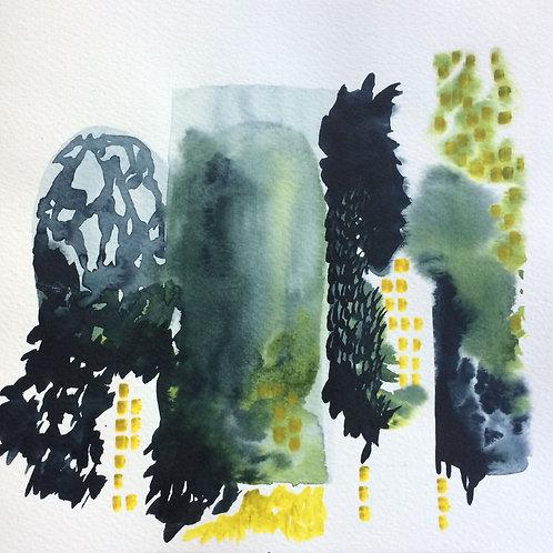 Watercolour Pillars
