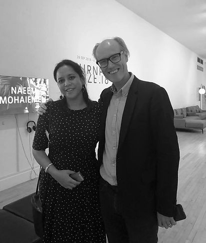 Will Gompertz and I, Turner Prize 2018