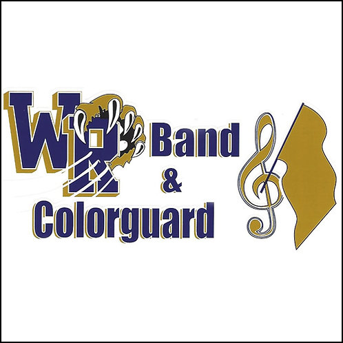 WR Marching Band & Colorguard Window Sticker