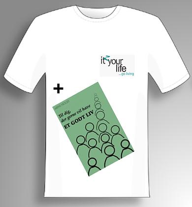 T-shirt inkl. bog