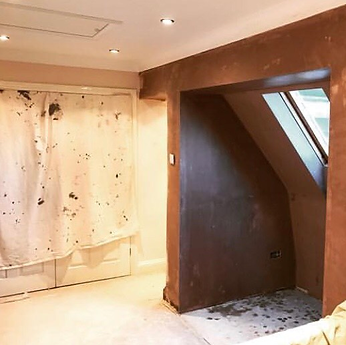 TPM Property Services - Fresh plaster finish to an area opened out by removing a wall