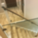 TPM Property Services - glass balustade, laminate flooring to stairs with oak handrail tranformed this staircase into a real feature